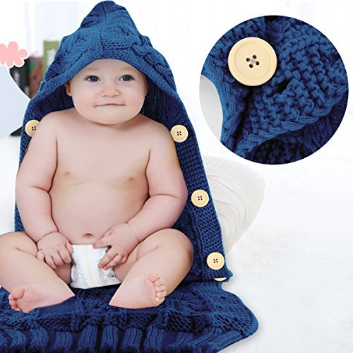 Colorful Newborn Baby Wrap Swaddle Blanket Oenbopo Baby Kids Toddler Knit Blanket Swaddle Sleeping Bag Sleep Sack Stroller Wrap for 0-12 Month Baby Grey