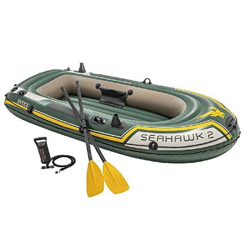 ▷ Intex Seahawk 4, 4-Person Inflatable Boat Set with