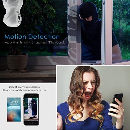 ▷ Wireless Security Camera,KAMTRON HD WiFi Security Surveillance IP